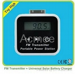 FM Universal solar  charger for iphone