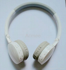 Wireless TF card/ mini SD card mp3 headphone, foldable music player headphone