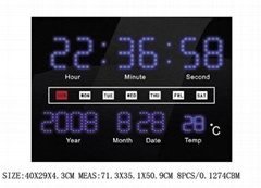 with calendar led display led clock
