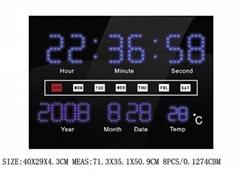 with calendar led display led clock