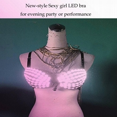 New-style Sexy girl LED bra for evening party or performance