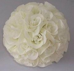 Artificial silk kissing roses flower ball
