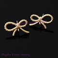 knot earring findings jewelry component