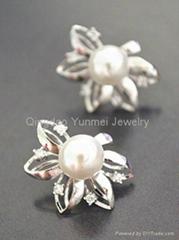 Luxury Pearl CZ Earring Best Jewelry Factory Supply