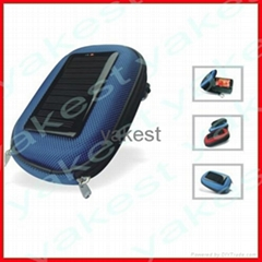 Solar camera charger bag for smartphone