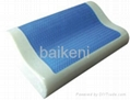 Gel contour memory foam pillow