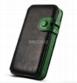 Magnetic Flip Leather Case with Button and Cutout Placement for iPhone