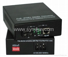 PoE 10/100Mbps Fiber media converter