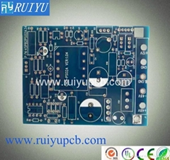 6 layer blue mask pcb with immersion gold