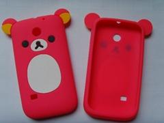 轻松熊硅胶手机套