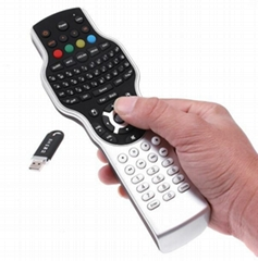 2.4G remote for IPTV with wireless mini keyboard Jogball mouse IR learning