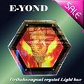 HOT ultrathin sexangle LED Crystal Light