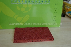 synthetic rubber running track materials