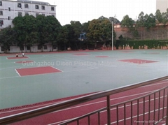 Synthetic PU basketball court floor surface