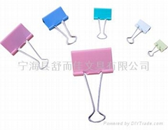 Colour binder clip