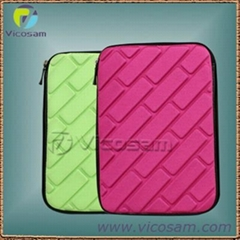 shining colorfull lycra EVA case for new ipad