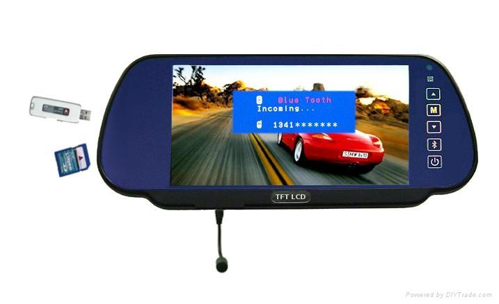 7''LCD bluetooth rearview car screen bluetooth mp5 SD USB tf card  1