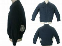 宝蓝色-空调保健长袖工作服