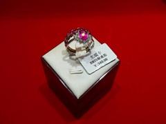 千足银镶嵌戒指