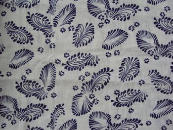 ramie linen cotton blend print cloth 1