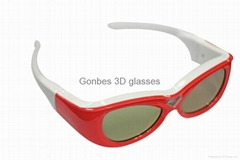 3d active shutter glasses for DLP-LINK projector (kid use)