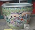 供應手工微雕陶瓷大缸