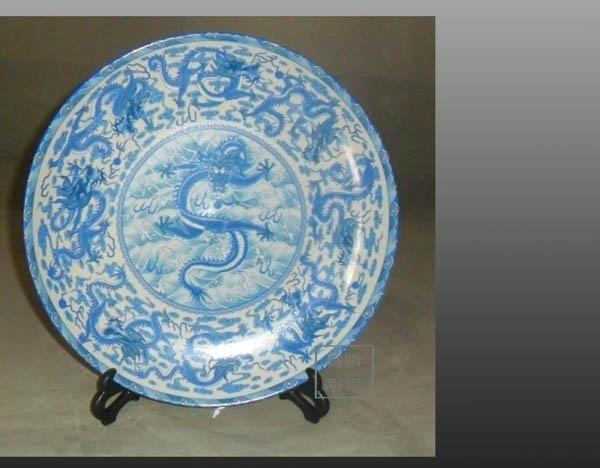 景德鎮手工大瓷盤 1
