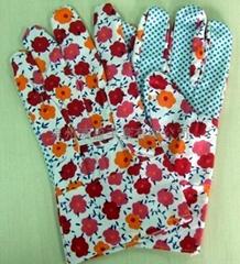 漂白花园点珠手套