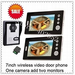 Wireless 7inch video door phone intercom systems with remote control and memory