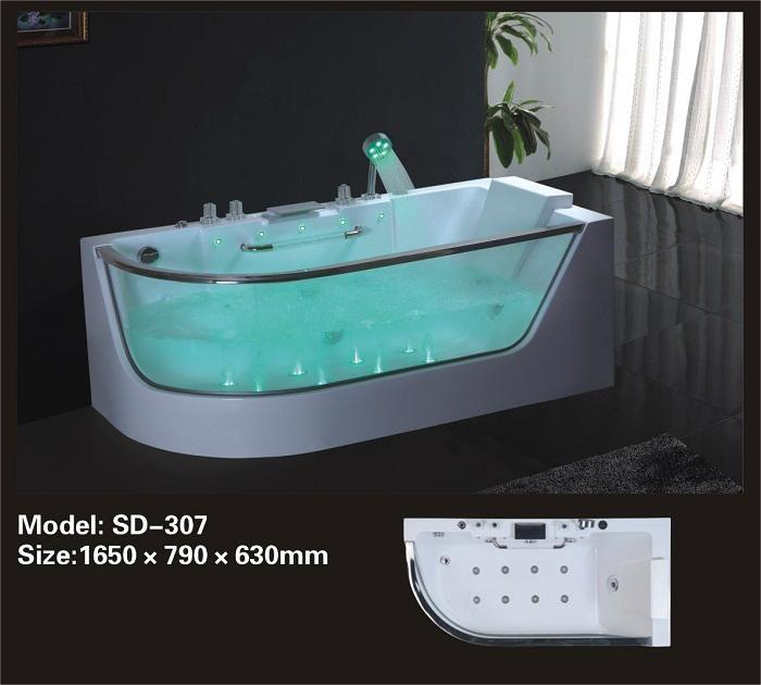 Latest design jacuzzi bathtub bd 307 beteroom china for Jacuzzi interior precios