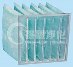 Spray booth bag filter