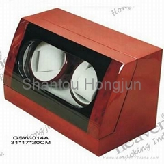 Glossy wooden auto watch winder box