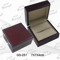 Glossy wooden jewellery box