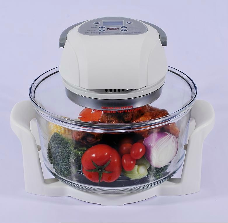 12L Digital Infrared Halogen Oven KM-806B with glass bowl 4