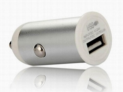 mini usb car charger for iphone, ipad, PDA, etc