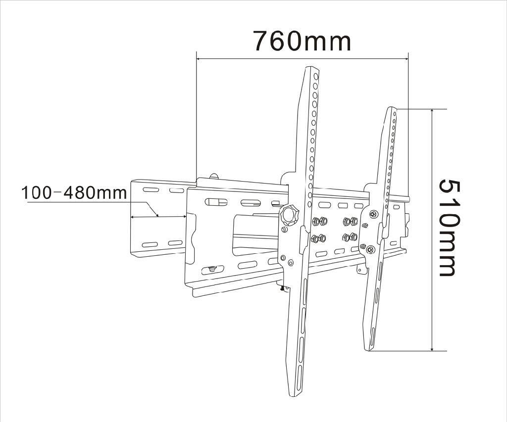 全角度调节电视机挂架 2