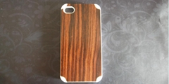 HARD Natural genuine bamboo Wood Woode Case Cover for iPhone 4 4G 4S Camera Logo