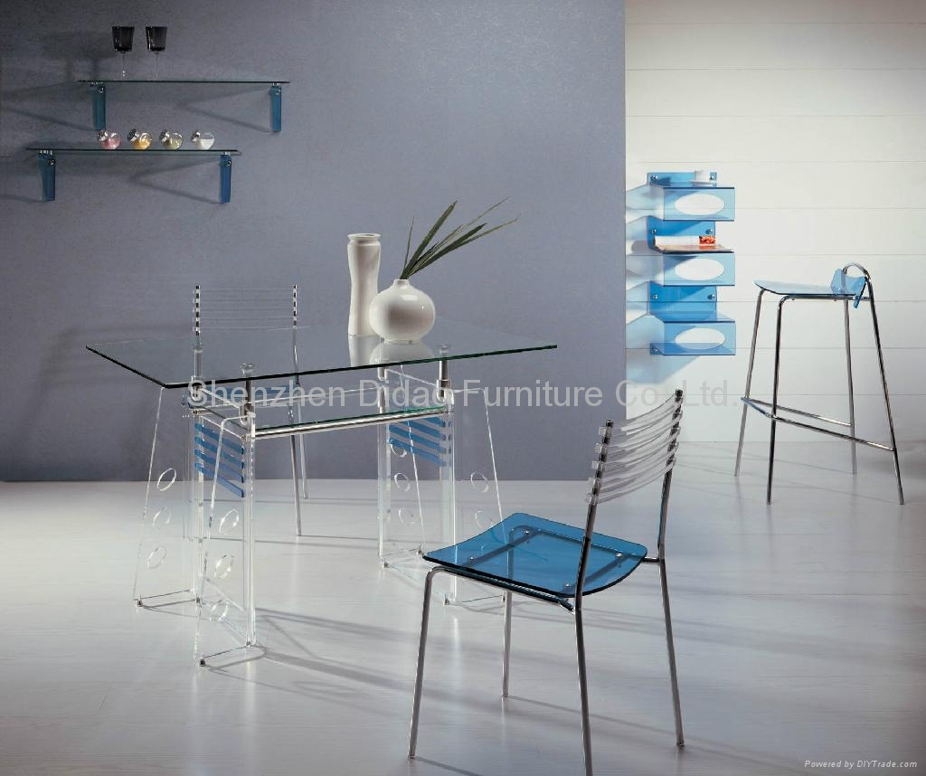 Acrylic dining table and chair sets 1