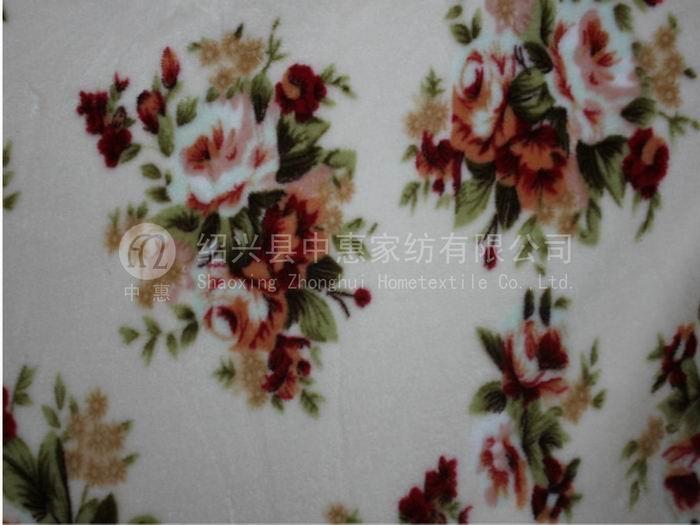 Polyester Warp Knitting Coral Fleece Fabric 1