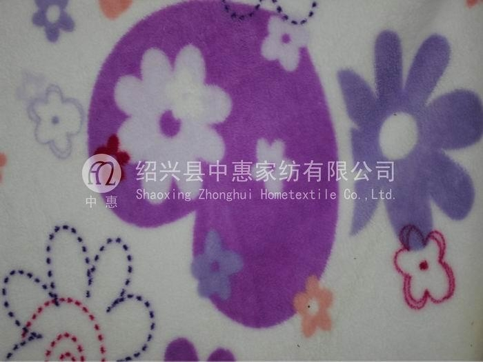 polyester printed coral fleece fabric(jaquard) 1