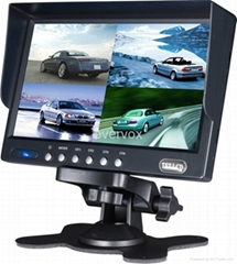 7 inch car rear view system with quad picture