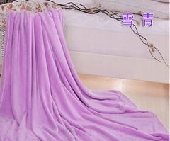 solid coral fleece blanket 150D288F