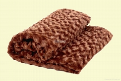 crinkle pv fleece(fake fur)blanket