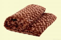 crinkle pv fleece(fake fur)blanket