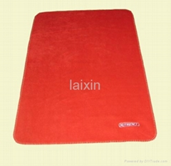 microfiber fleece blanket with embroidery