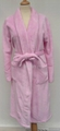 bathrobe solid coral fleece