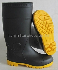 safety boots with steel toe and midsole