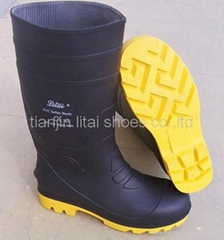 industrial safety boots with steel toe and midsole