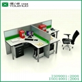 M51-Modern wooden frosted glass office
