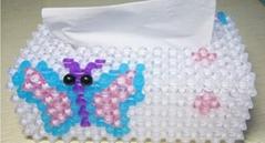 亚克力水晶编制方形纸巾盒
